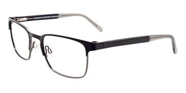 Satin Black/Steel Easy Clip EC452 Eyeglasses - (Clip-On).