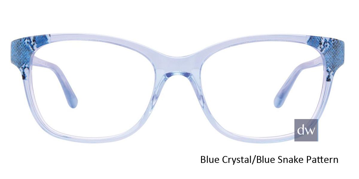 Blue Crystal/Blue Snake Pattern Easy Clip EC464 Eyeglasses - (Clip-On).