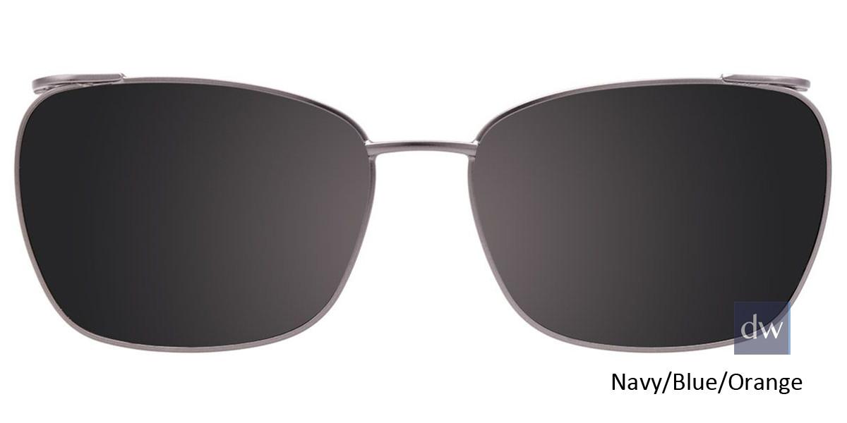 Navy/Blue/Orange Easy Clip EC448 Eyeglasses - (Clip-On).