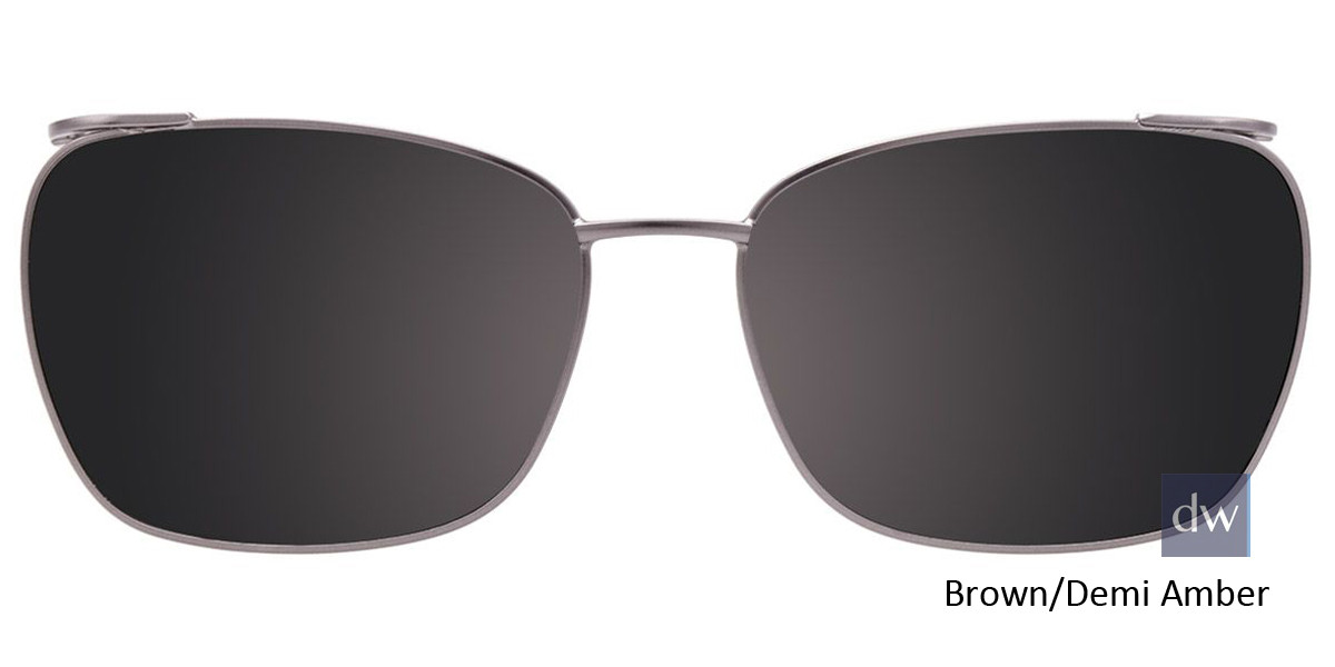 Brown/Demi Amber Easy Clip EC448 Eyeglasses - (Clip-On).