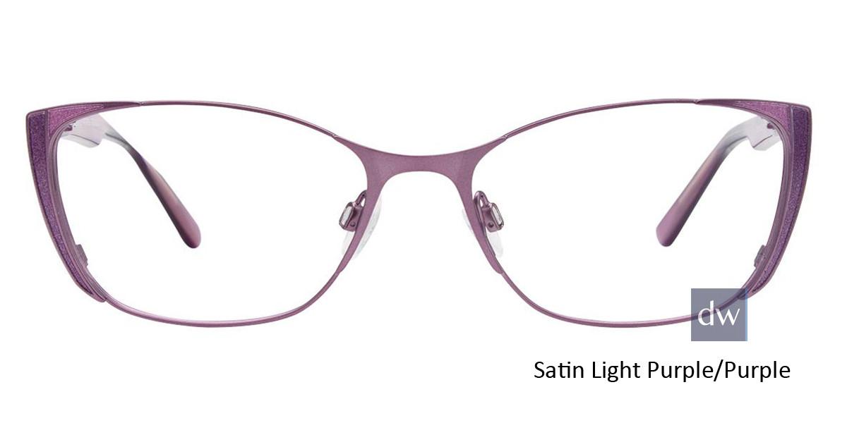 Satin Light Purple/Purple Easy Clip EC442 Eyeglasses - (Clip-On).