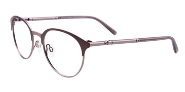 Steel/Silver Easy Clip EC446 Eyeglasses - (Clip-On).