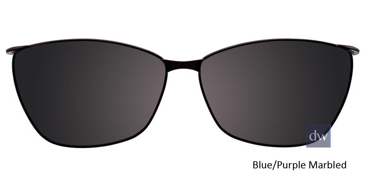 Blue/Purple Marbled Easy Clip EC428 Eyeglasses - (Clip-On).