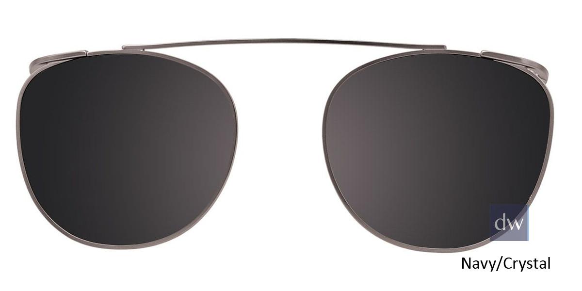 Navy/CrystalEasy Clip EC443 Eyeglasses - Teenager - (Clip-On).