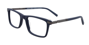 Navy/Dark Grey Easy Clip EC441 Eyeglasses - (Clip-On).