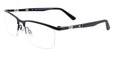 Satin Black Easy Clip EC435 Eyeglasses - (Clip-On).