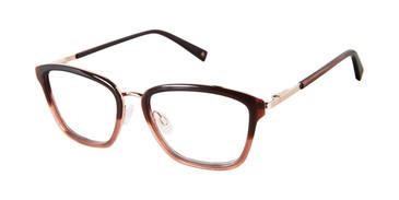 Burgundy/Grey Brendel 922064 Eyeglasses.