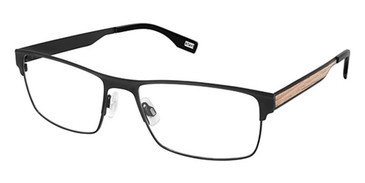 Black/Wood Evatik 9197 Eyeglasses.