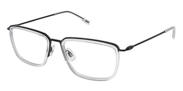 Black/Crystal Evatik 9201 Eyeglasses.