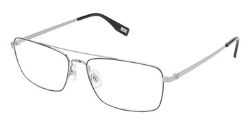 Black/Light Gun Evatik 9203 Eyeglasses.