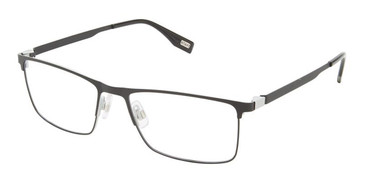Black/Grey Evatik 9204 Eyeglasses.