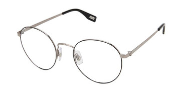 Black/Light Gun Evatik 9206 Eyeglasses - Teenager.
