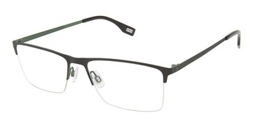 Black/Green Evatik 9213 Eyeglasses.