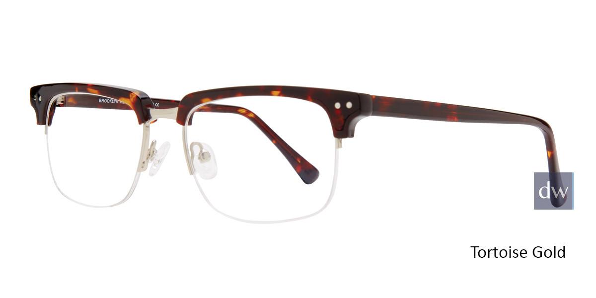 Tortoise Gold Brooklyn Heights Slope Eyeglasses