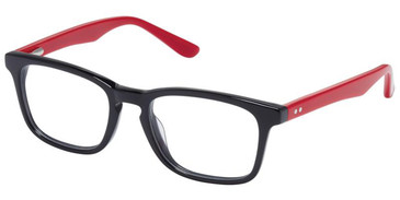 Black Red Superflex Kids SFK-229 Eyeglasses