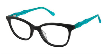 Black Turquoise Superflex Kids SFK-207 Eyeglasses