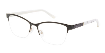Black/Gold L.A.M.B  La077 Eyeglasses.