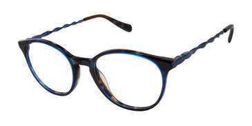 Navy Tura By Lara Spencer LS126 Eyeglasses.