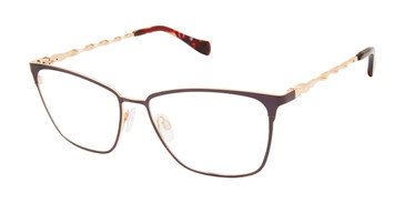 Eggplant Tura By Lara Spencer Specialty Size LS300 Eyeglasses.