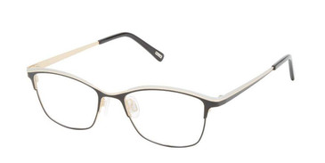 Black Silver Kliik Denmark 675 Eyeglasses - Teenager.