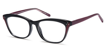 Black Burgundy Capri 4U US 103 Eyeglasses