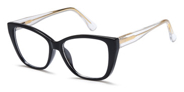 Black Crystal Capri 4U UP 307 Eyeglasses