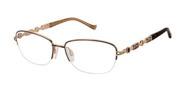 Brown/Gold Tura R573 Eyeglasses.