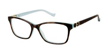 Tortoise Mint Tura R569 Eyeglasses.