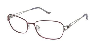 Lilac/White Gold Tura R225 Eyeglasses.