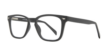 Matte Black Affordable Design Woody Eyeglasses.