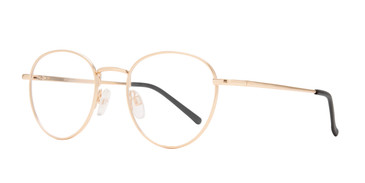 Matte Gold Affordable Design Boston Eyeglasses.