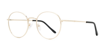 Gold Affordable Design Woodstock Eyeglasses.