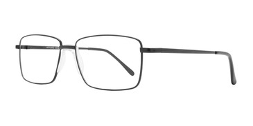 Black Affordable Design Boston Eyeglasses.