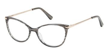 Charcoal Horn Ann Taylor ATP815 Petite Luxury Eyeglasses - Teenager