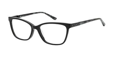 Black/Teal Nicole Miller Atwater YourFit Eyeglasses.