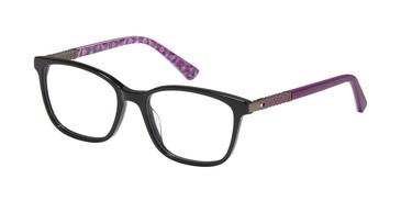 Black/Eggplant Nicole Miller Haley Tween Niki Eyeglasses.