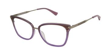 Aubergine Nicole Miller Nice YourFit Resort Eyeglasses.