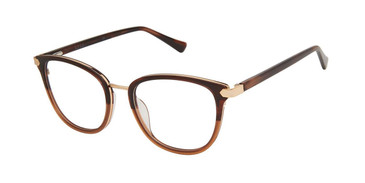 Umber Brown Nicole Miller Riviera Resort Eyeglasses.
