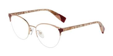 Burgundy 08MD Furla VFU361 Eyeglasses.