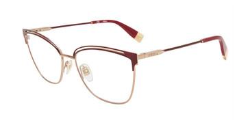Burgundy 0E59 Furla VFU396 Eyeglasses.