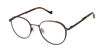 Tortoise/Dark Gun Mini 742007 Eyeglasses - Teenager