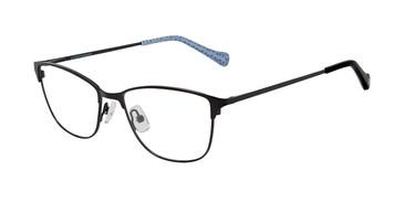 Black Lucky Brand D113 Eyeglasses.