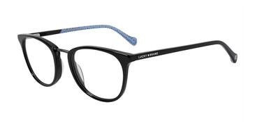 Black Lucky Brand D217 Eyeglasses.