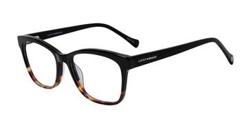 Black Tort Lucky Brand D218 Eyeglasses.