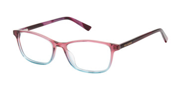Rose/Teal Ted Baker B976 Eyeglasses - Teenager.