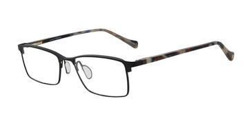 Black Lucky Brand D311 Eyeglasses.