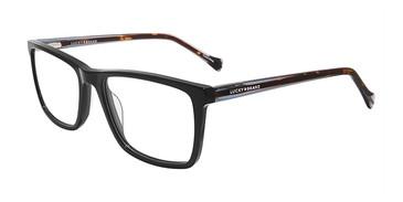 Black Lucky Brand D416 Eyeglasses.