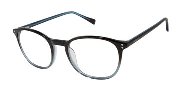 Black/Grey Buffalo Ultra Thin BM013 Eyeglasses - Teenager.