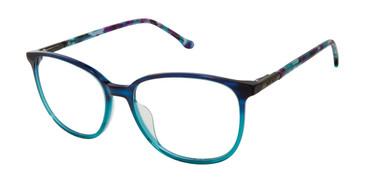 Blue Teal Buffalo Ultra Thin BW013 Eyeglasses.