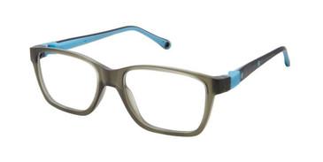 Grey Blue W-Blue Strap Life Italia NI-138 Eyeglasses - Teenager